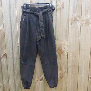Zara paper bag waist camo jogger pants